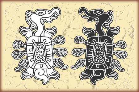 maya: The vector image Ornament in style of the Maya