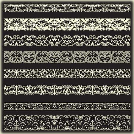 vintage border: The vector image Vintage border set for design