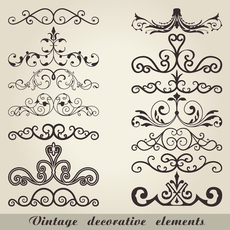 decorative elements: The vector image of Vintage decorative elements Illustration