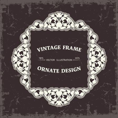 stylize: The vector image Frame in vintage style Illustration