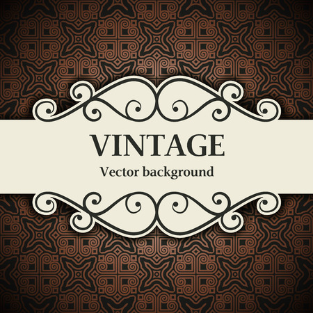 baroque background: The vector image vintage vector background