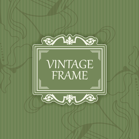 soiled: illustration of  Background with a pattern vintage style with frame