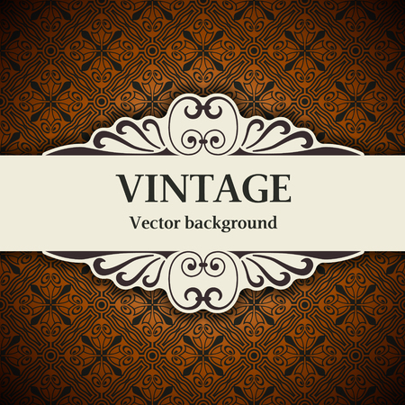 vector image: The vector image vintage vector background