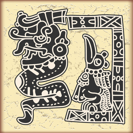 american history: The vector image Ornament in style of the Maya