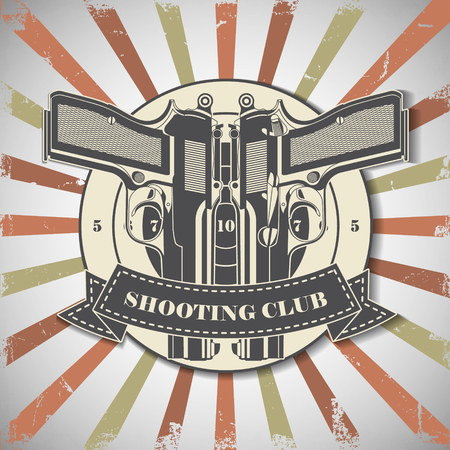 struggling: The vector image of Symbol shooting club
