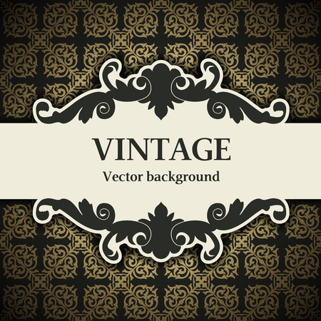 old vintage: The vector image vintage vector background