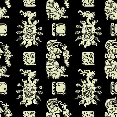 Background seamless pattern in Maya style