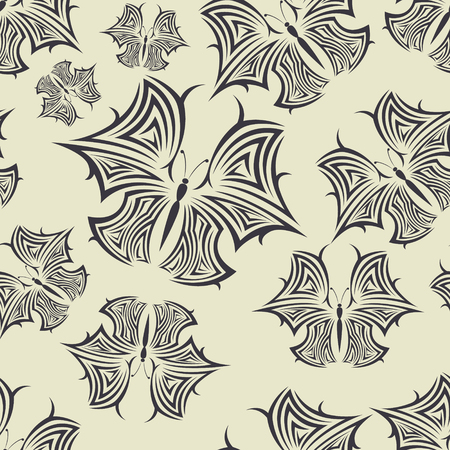 hush hush: image of color Seamless pattern with butterflies