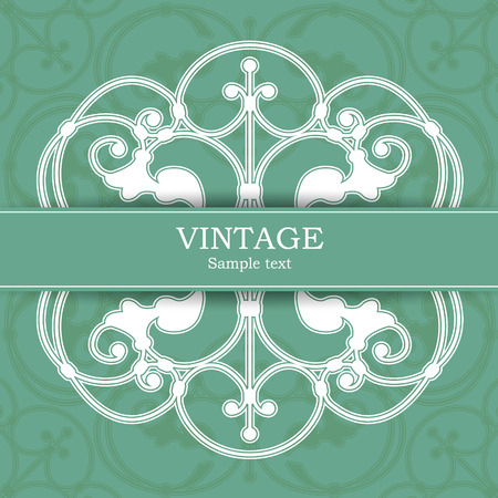 soiled: The vector image Vintage invitation card