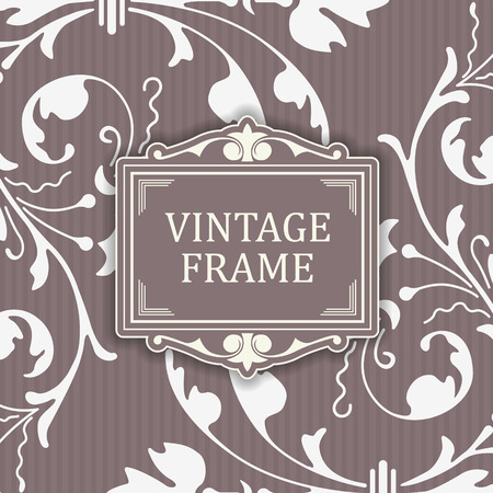 soiled: The vector image Background with a pattern vintage style with frame