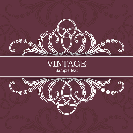 The vector image Vintage invitation card