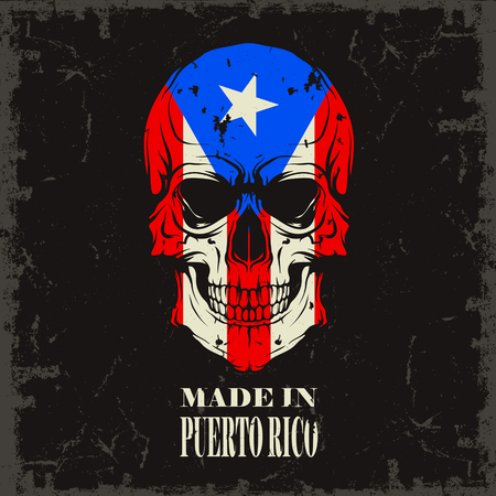 Image Skull color of the flag