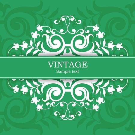 The vector image Vintage invitation card