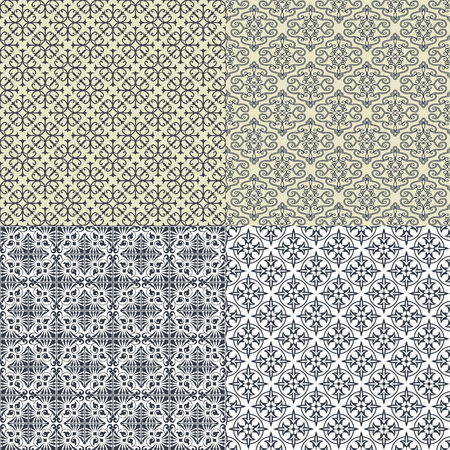 The vector image Set of vector seamless pattern