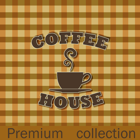 The vector image Coffee house advertising poster