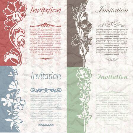 Invitation flowers Vecteurs