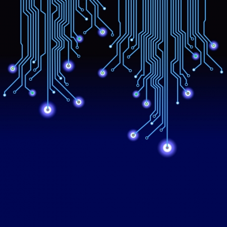 electronic circuit: Electronic abstract background. Vector illustration.