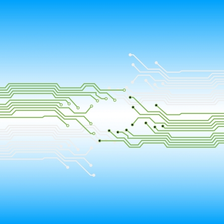 pcb: Electronic paths, abstract background. Vector illustration.