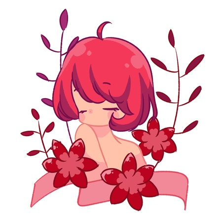 Pink amaryllis girl