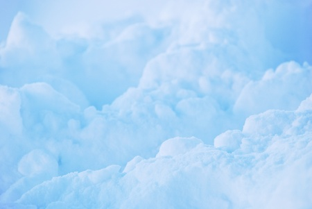 Detail shot of blue ice  photo