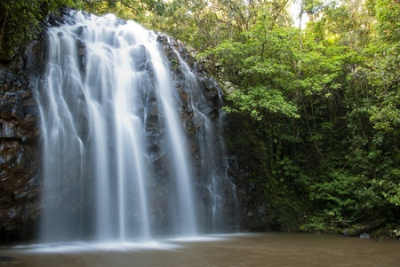 Waterfall in tropical rainforest Australia photo