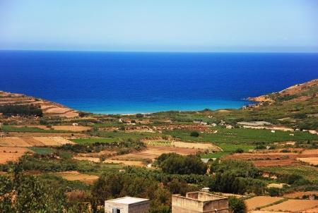 Paradise like beach at Malta. Ramla Bay on Gozo Imagens