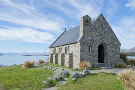 Church of the Good Shepherd, Lake Tekapo, New Zealand  photo