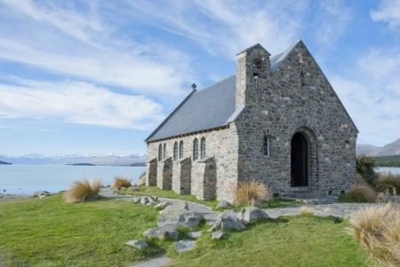Church of the Good Shepherd, Lake Tekapo, New Zealand Imagens - 18842947