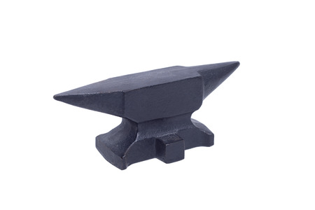 malleable: Black anvil isolated with clipping path