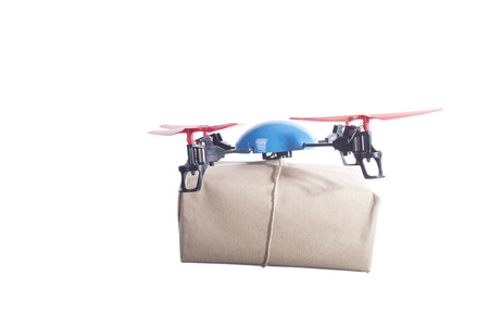 autonomic: Delivery drone with post. instant shipping concept
