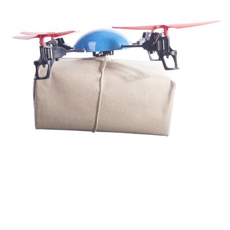 par avion: Same day delivery drone bringing packet par avion