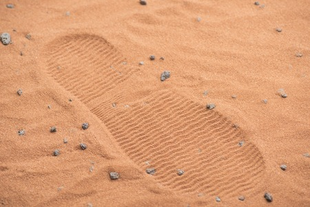 mankind: human astronaut leaving trace on mars. its a small step for men and a giant leap for mankind
