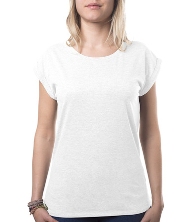 woman top clothing template isolated on white with clipping path both for background and garment