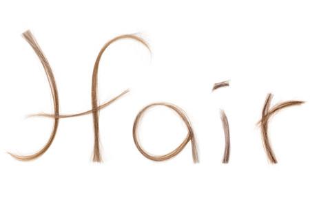 peruke: Hair litteraly spelld with hair, cancer treatment concept serries