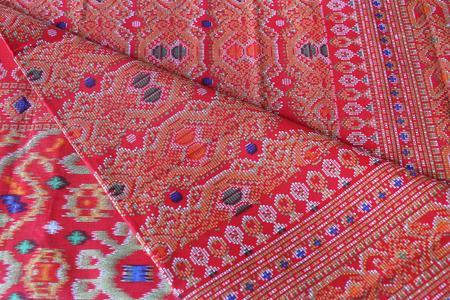 sarong: Traditional Sarawak Pattern Sarong Stock Photo