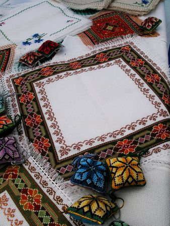 manner: background in the manner of embroidery napkins and cushion for sewing needles