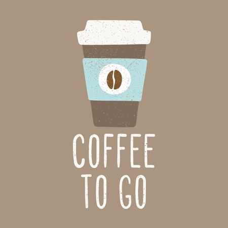 to go cup: Coffee to go. Cup to go. Vector EPS 10 hand drawn illustration. Illustration