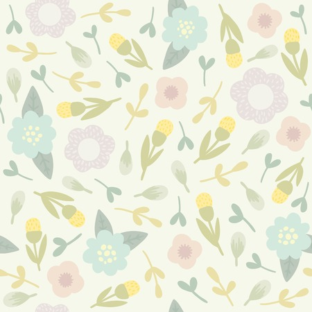 Vector EPS10 hand drawn seamless floral pattern Vector