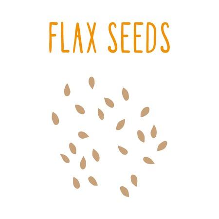 Flax seeds. Vector hand drawn illsutration. Illustration