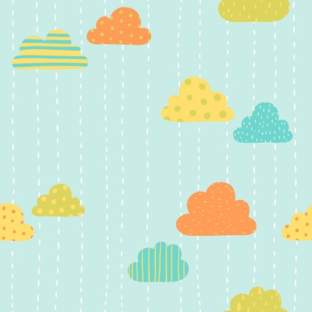Funny clouds pattern.  Vector