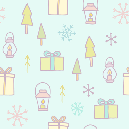 vector eps10: Merry Christmas seamless pattern. Vector EPS10 illustration