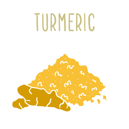 Turmeric powder and root.