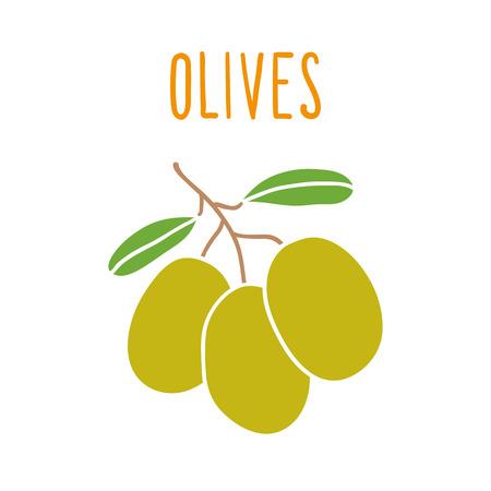 mediterranean diet: Olives isolated on white.