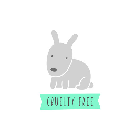 cruelty: Rabbit sign. Cruelty free sign. Vegan. Vector hand drawn illustration Illustration