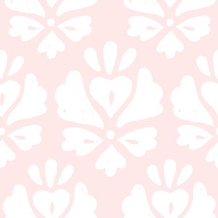 absract art: Cute pink elegant background. Vector hand drawn seamless pattern