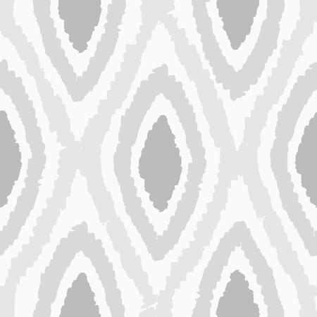 Grey rhombus seamless pattern. Vector hand drawn background