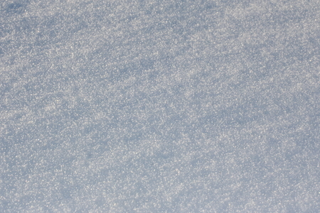 High angle view of fresh clean snow for texture, background with copy space Stock Photo