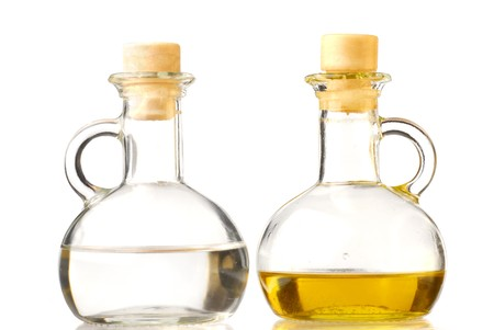 Glass bottles studio isolated on white background Stock Photo - 4329216