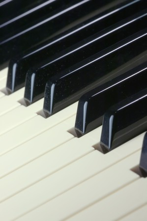 acoustically: Close up of the keys on a piano