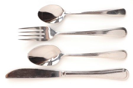 Close up of cutlery isolated on white background Stock Photo - 4432941